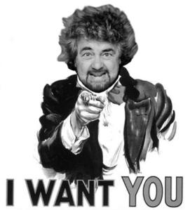 Grillo want you