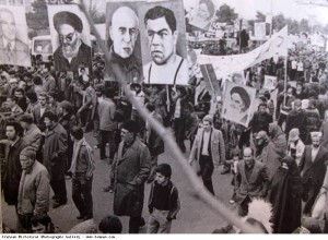1979_Demonstrations_Posters_Khomeini_Mosaddegh_Takhti
