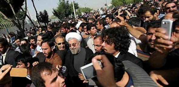 Rouhani crowd